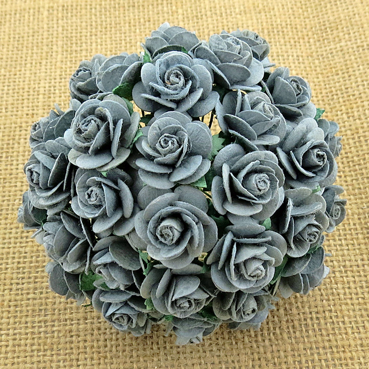 100 PARMA GREY MULBERRY PAPER OPEN ROSES