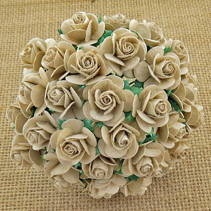 100 DOVE GREY MULBERRY PAPER OPEN ROSES