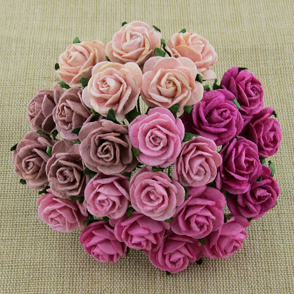 50 mixed pink open roses saa 253 promlee flowers wholesale 50 mixed pink open roses mightylinksfo