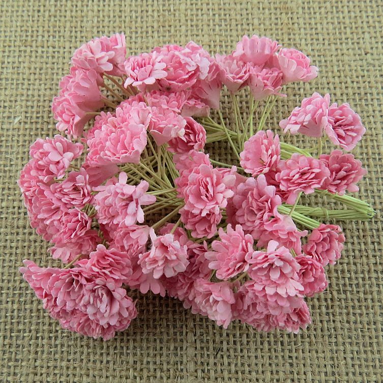 100 BABY PINK MULBERRY PAPER GYPSOPHILA FLOWERS