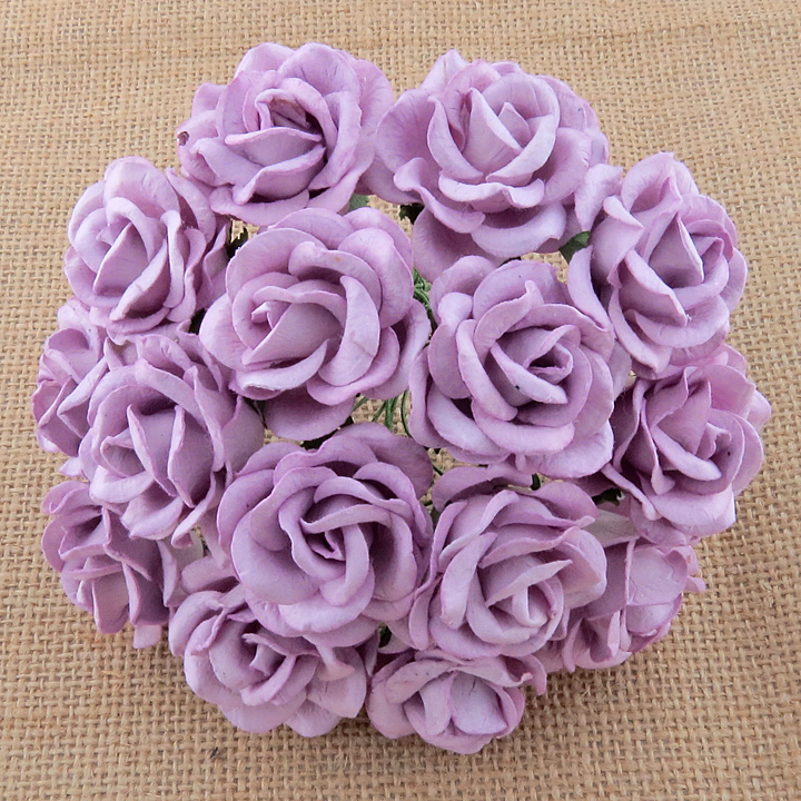 50 LILAC MULBERRY PAPER CHELSEA ROSES