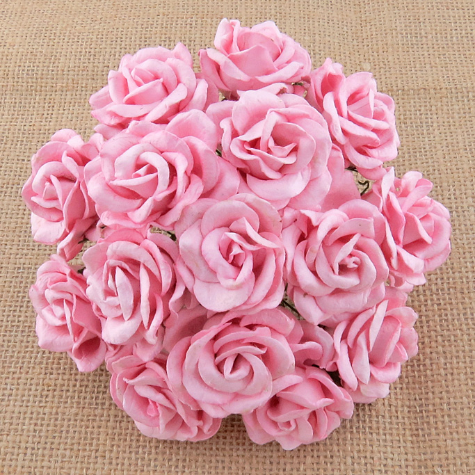 50 BABY PINK MULBERRY PAPER CHELSEA ROSES