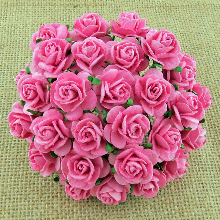 100 PINK MULBERRY PAPER OPEN ROSES