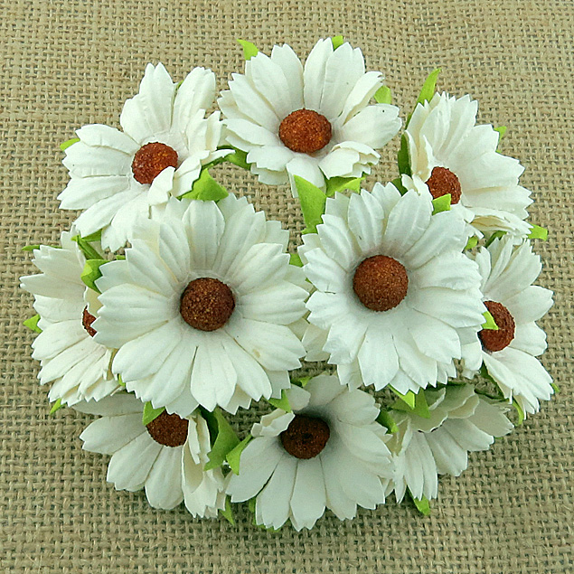 50 IVORY MULBERRY PAPER CHRYSANTHEMUMS