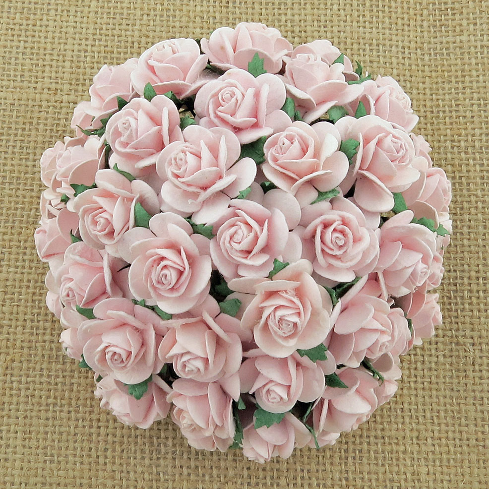 100 PINK MIST MULBERRY PAPER OPEN ROSES