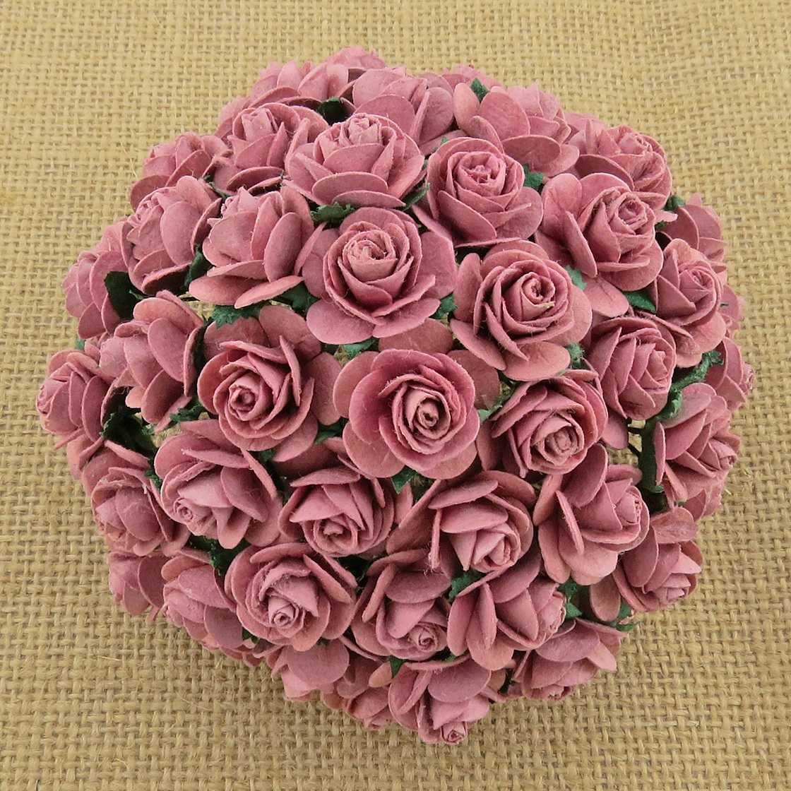 100 DUSKY PINK MULBERRY PAPER OPEN ROSES