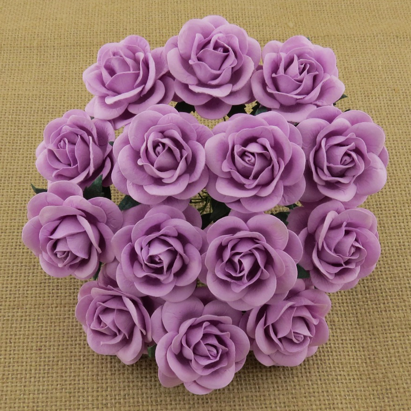 50 LILAC MULBERRY PAPER TRELLIS ROSES