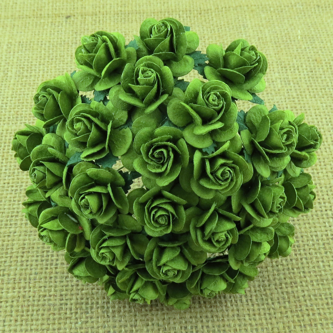 100 MINT GREEN MULBERRY PAPER OPEN ROSES