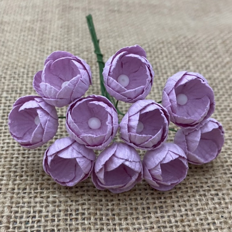 50 LILAC MULBERRY PAPER BUTTERCUPS