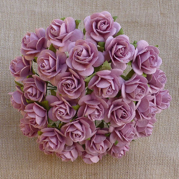 100 ROSE PINK MULBERRY PAPER OPEN ROSES