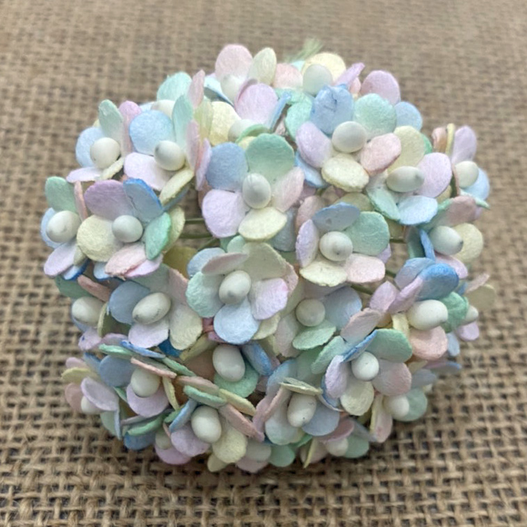 100 MINIATURE MIXED PASTEL RAINBOW SWEETHEART BLOSSOM FLOWERS