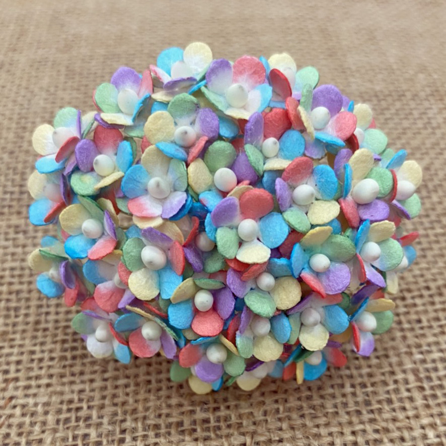 100 MINIATURE MIXED RAINBOW SWEETHEART BLOSSOM FLOWERS
